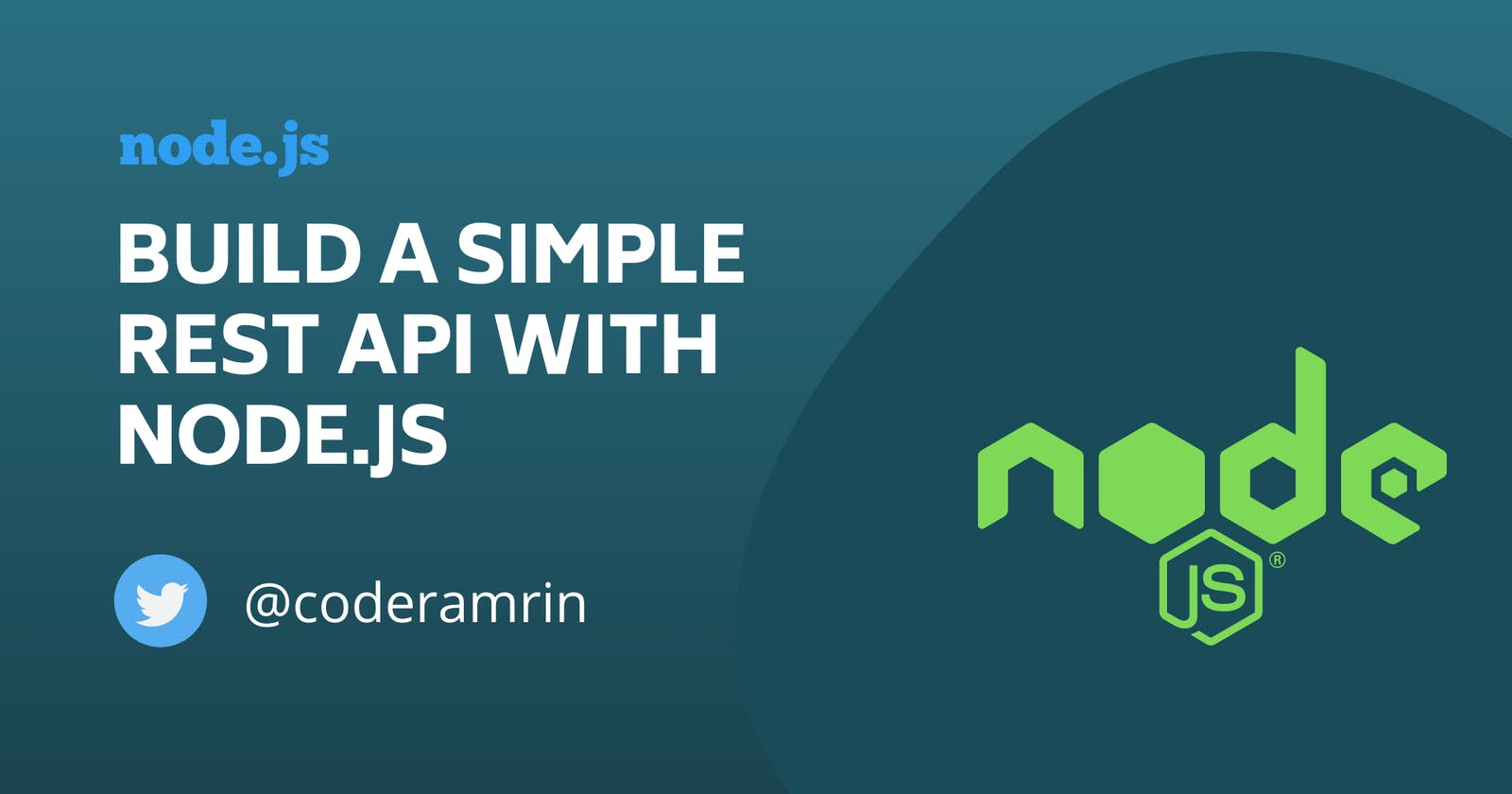 Let's build a simple REST API with Node.js and Express