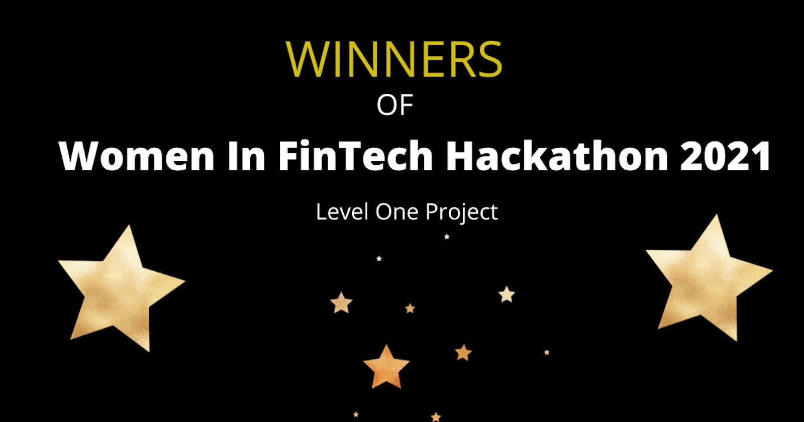 Winners of Women In FinTech Hackathon 2021