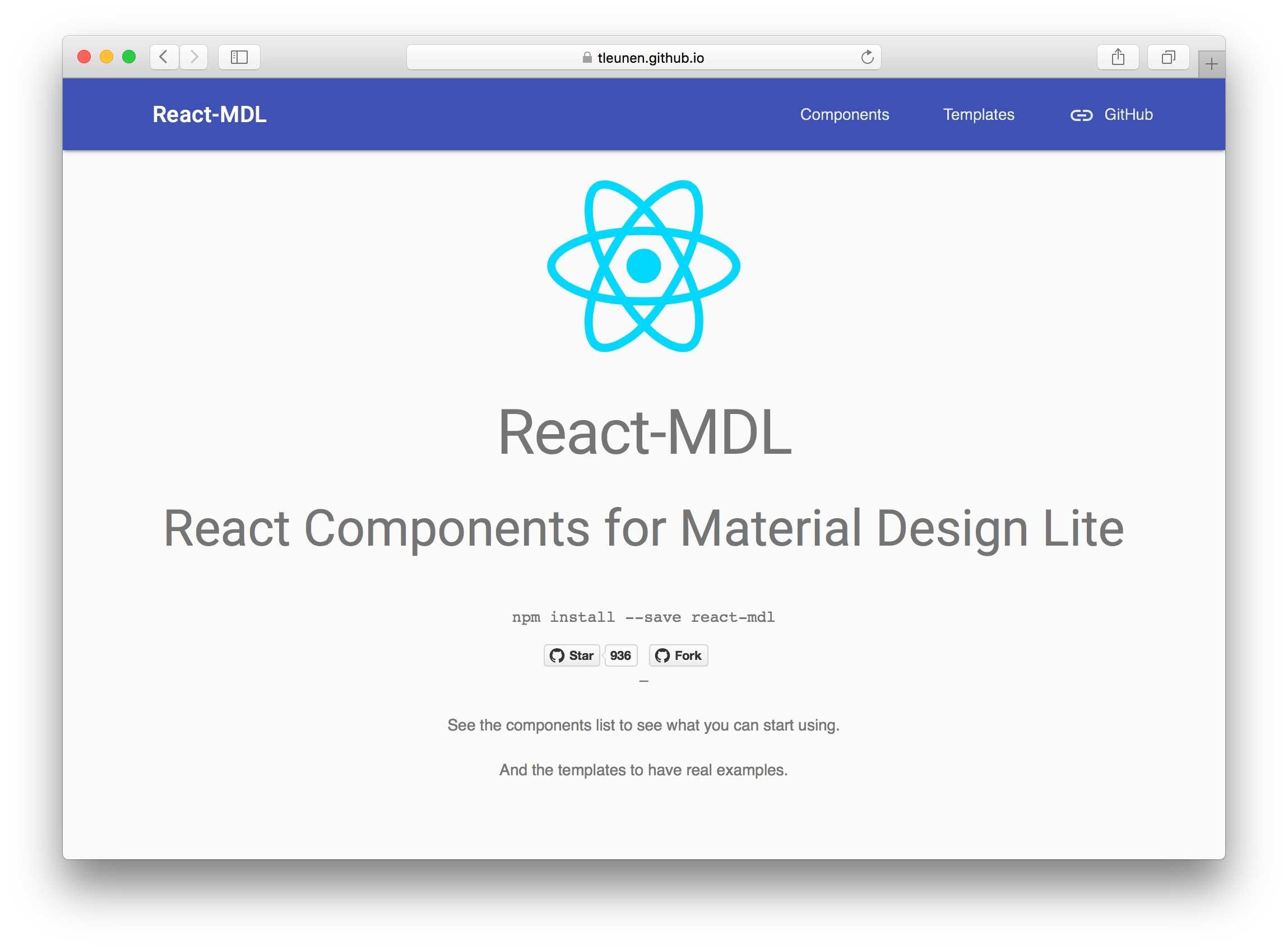 React-MDL