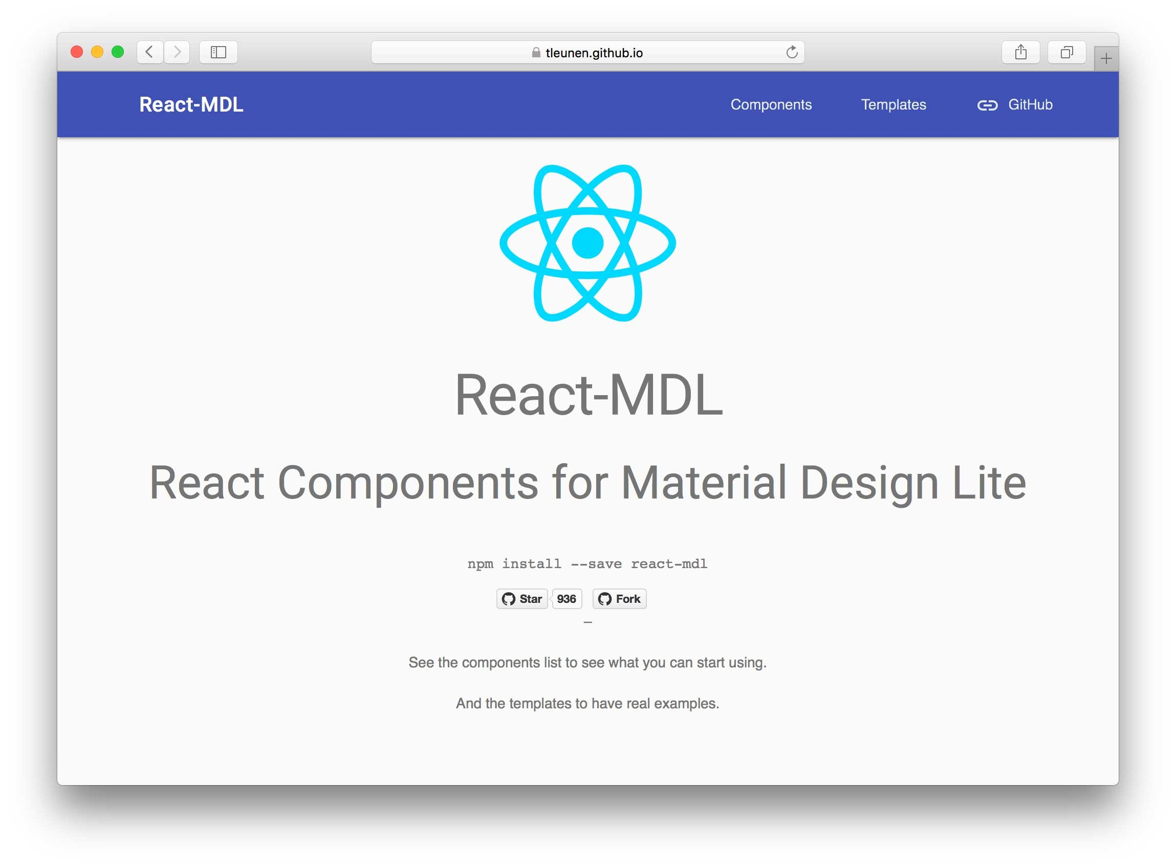 React-MDL